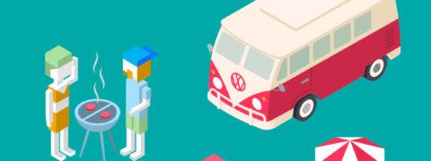 Primera concentración virtual de furgonetas Volkswagen